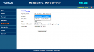 modbus tcp to modbus rtu, we62c